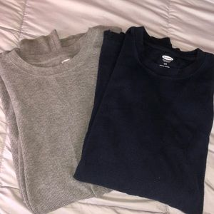 Two Textured Long Sleeve Tees